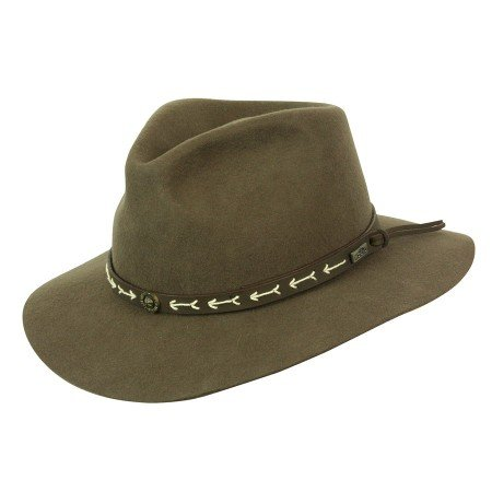 Loden Green Wool - Conner Hats Men's Mt. Warning Wool Hat, Loden Green, L