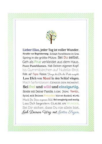 Taufgeschenk Junge Personalisiert Taufbild Als Geschenk
