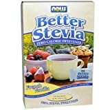 Now Foods, Better Stevia, French Vanilla, 75 Packets, (1 g) Each(Pack of 3)