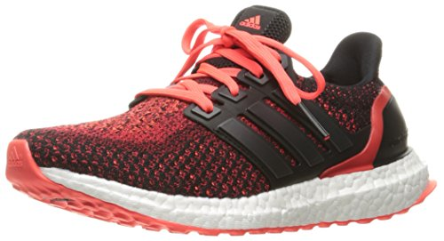 adidas Performance Ultraboost J Running Shoe Black/Black/Infrared