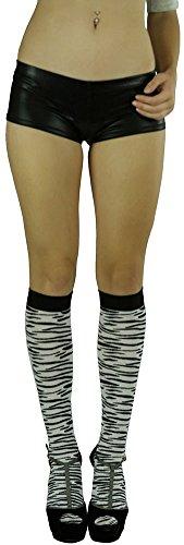 Zebra Knee Socks - 4