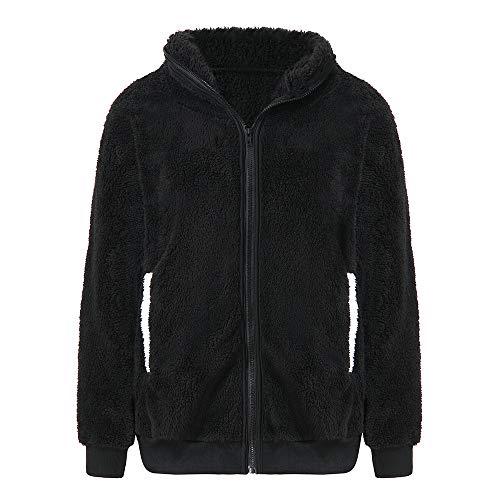 Wobuoke Warm Cute Bear Ear Panda Plush Hooded Jacket Outerwear Coat ()