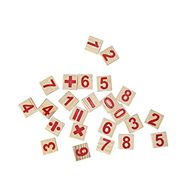 SDBING Wooden Number Cards and Counting Rods with Box: Office Products