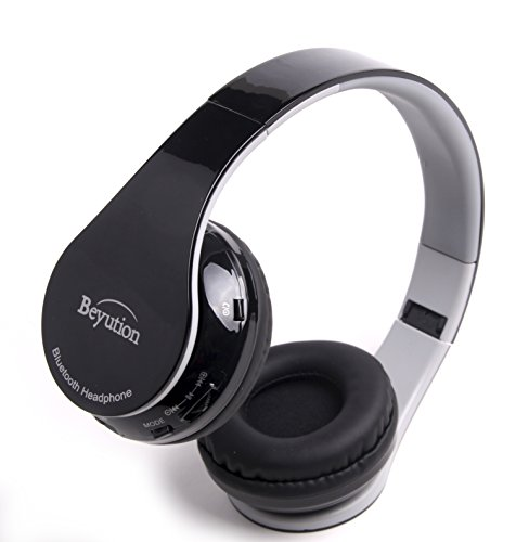 Beyution Hi-Fi Stereo Wireless Bluetooth Headphone for Apple All IPAD IPO Samsung Galaxy S4/S3; Nook; Visual Land Filemate; LG and All Portable deive which with Bluetooth Device-Black