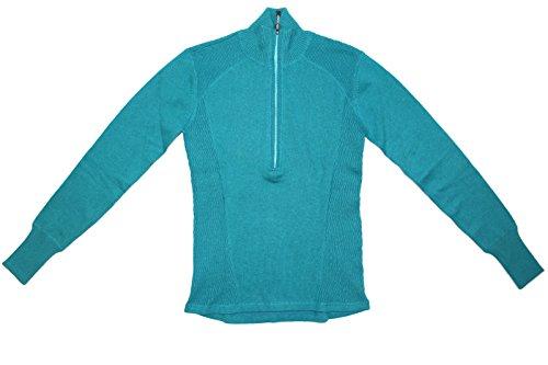 - Eddie Bauer Ladies' Half Zip Pullover (Teal, Small)