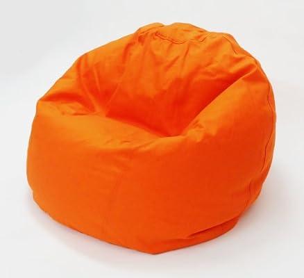 Amazon Com Bean Products Comfy Bean Beanbag Small Cotton Orange Furniture Decor