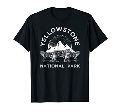 (Yellowstone National Park Wolf Shirt, Wolves Tee Gift)
