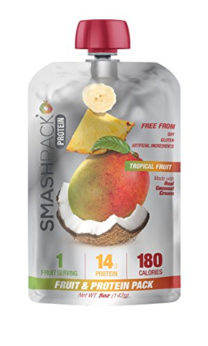 SmashPack Sports Nutrition, Fruit & Protein Performance Pack (5oz pack- 6 packs) (Tropical Fruit)