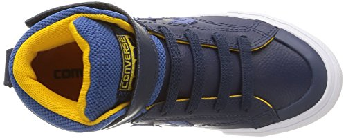Converse Herren, Pro Blaze Hi Strap Leather, Blau (Nighttime Navy/Blue Jay/Yellow) blau (Nighttime Navy/Blue Jay/Yellow)
