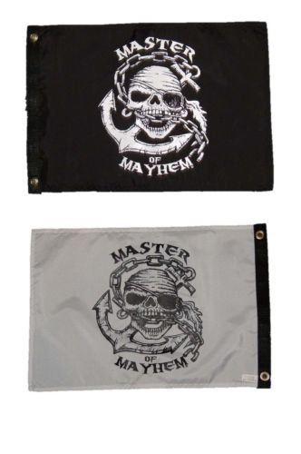 Moon Knives 12x18 Jolly Roger Pirate Master of Mayhem Double