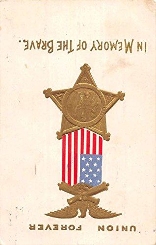 Clear Rapids Iowa Union Metal Civil War Patriotic Antique Postcard K40001