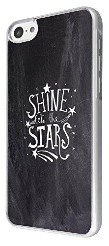 822 - Shine Like the Stars Design iphone 5C Coque Fashion Trend Case Coque Protection Cover plastique et métal
