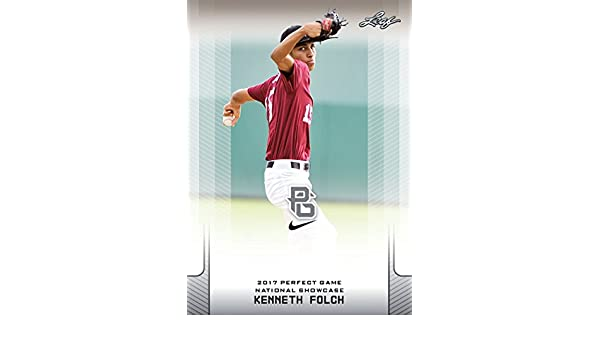 10-Count Lot Kenneth Folch 2017 Leaf Perfect Game NIKE All ...