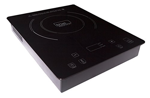 True Induction TI-1B Single Burner Counter Inset Energy Efficient Induction Cooktop 1600 Watts