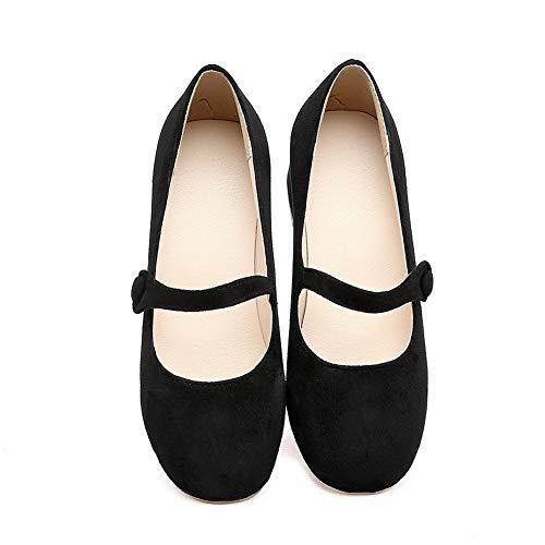 Femme Noir 5 Sandales Compensées Noir 36 EU APL10556 BalaMasa qaTOFntx