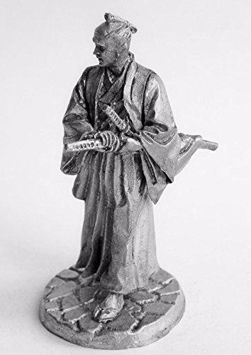 TIN HISTORY TIN FIGURES MIDIEVAL JAPAN SAMURAI IN KIMONO WITH KATANA 60MM (Japan Tin)