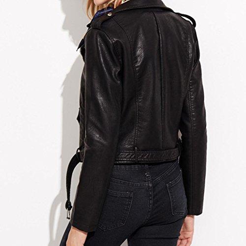 Punk Similicuir OverDose Perfecto Cuir Manteau Grande Vintage Taille Noir Vestes Jacket Hiver Femme zxOqR