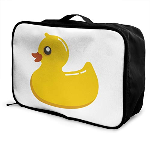 Rubber Duck Lightweight Large Capacity Portable Luggage Bag Fashion Travel Duffel Bag