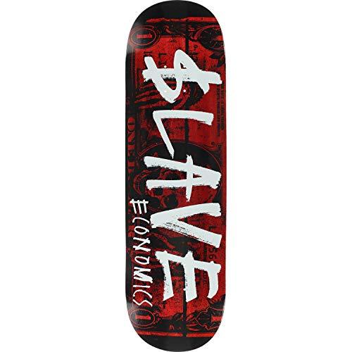 色難民不良品スレーブスケートボード エコノドレーブ ブラック/アソートカラー スケートボードデッキ - 8.75インチ x 32.875インチ