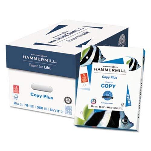 Copy Plus Copy Paper, 3-Hole Punch, 92 Brightness, 20lb, Ltr, White, 500 Shts/Rm, Sold as 1 Ream