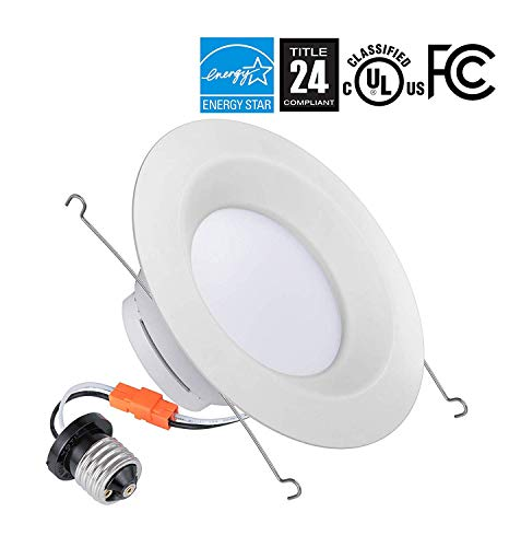 (24 Pack) 6 inch Dimmable LED Recessed Retrofit Ceiling Downlight, 14.5W (120W Replacement), 1100lm, 2700K Warm White, UL Listed, Energy Star Certified, Title 24, Wet Location Rated (Wet Downlight Location)