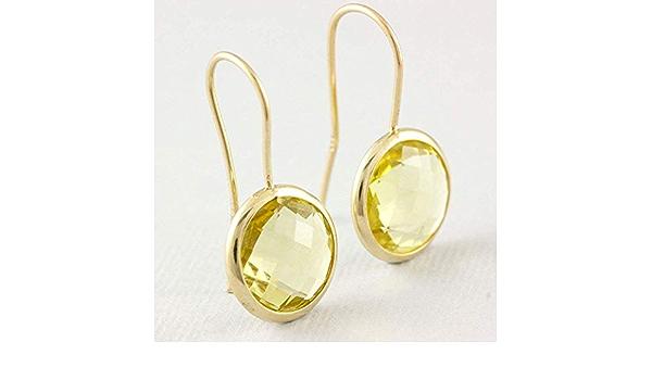 Dangle Earrings Lemon Quartz Gemstone Unique Designer Earrings 925 Silver Hand Made Drop /& Dangle Earrings Jewelry Length 2.5 Inch sve2371