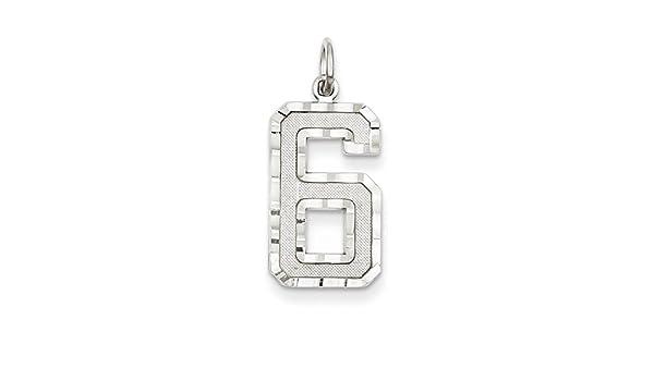 Jewelry Adviser Charms 14k White Gold Diamond-cut Initial T Charm