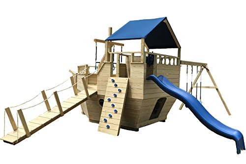 GHL Products Amish Made Pirate Ship Outdoor Play-set Kit