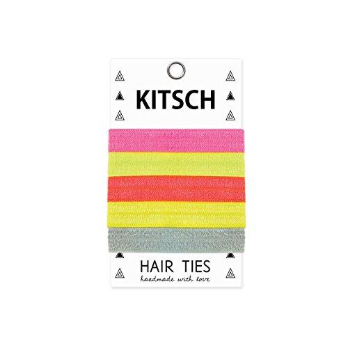 Kitsch 5 Piece Solid Hair Ties Set, Neo Pop
