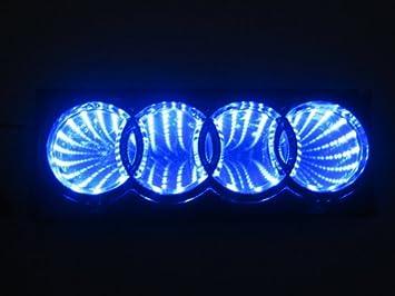 Amazoncom D Blue Led Audi Logo Badge Light Car Trunk Emblem - Audi car sign