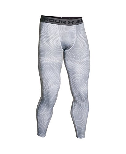 Under Armour Men's HeatGear Printed Legging, White/Graphite LG X 26 by Under Armour (Image #3)