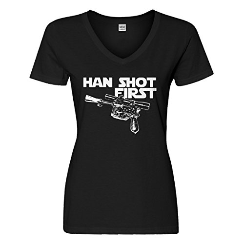 First Tee Shot (Vneck Han Shot First X-Large Black T-Shirt)