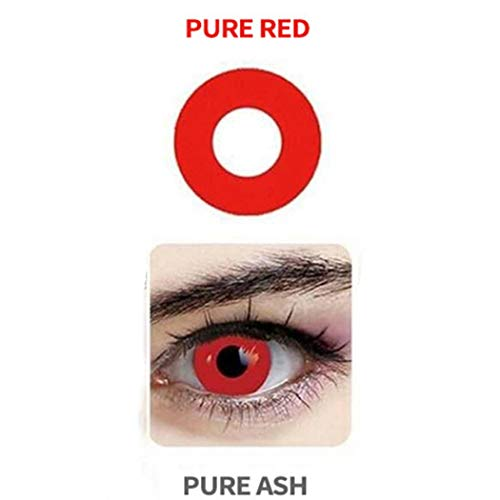 Women Blends Cosplay Eyes Materials Multicolor Cute Charm and Attractive Fashion Contact Lenses Cosmetic Makeup Eye Shadow(A Pair) (Red)