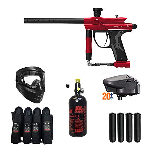 MAddog Spyder Fenix Expert Paintball Gun Package - Red