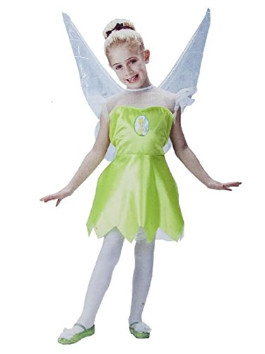 Disney Fairies Tinkerbell Girls Costume Size S (4-6X) by Disguise