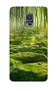 New Galaxy S5 Case Cover Casing(landscape Nature Forest Trees Swamp Water Mist Morning )