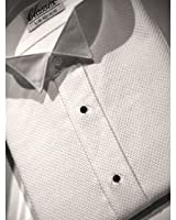 Wing Collar Tuxedo Shirt, Classic Front, 65% Polyester 35% Cotton (16.5 - 36/37)