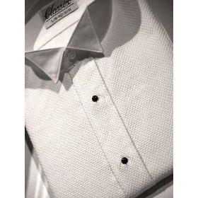 Pique Wing Collar Tuxedo Shirt, Classic Front, 65% Polyester 35% Cotton (17 - 36/37) - Pique Tuxedo Shirts