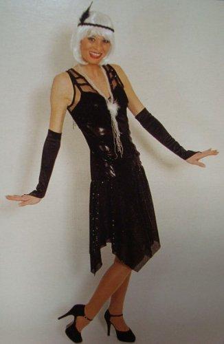 Nfp Charleston Kleid Schwarz Flapper 20 Er Jahre Damen Kostum Jazz