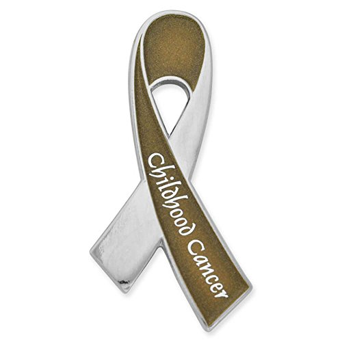 hot sell PinMart's Childhood Cancer Awareness Gold Ribbon Enamel Lapel Pin free shipping