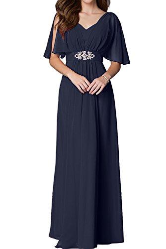 Topkleider - Vestido - trapecio - para mujer azul marino