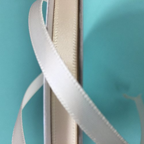 1/4 inch satin ribbon single (Ivory Single Sided Satin Ribbon)