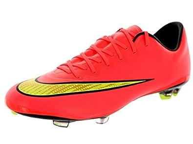 Nike Kids Jr Mercurial Vapor X Fg Hypr Punch/Mtlc Gld Cn/Blk/Vlt Soccer  Cleat 6 Kids US