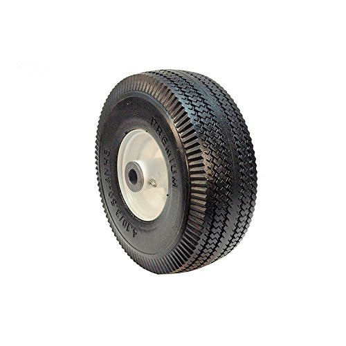 Flat Free Wheel Assembly Replaces Toro 105-3471 Sawtooth Tread