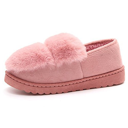 Ho Inverno Confortevole Donna Caldo Pelliccia Antiscivolo Su Pantofola Casa Antiscivolo Fodera In Velluto Allinterno Casa Pantofole Pantofole Zoccolo Rosa