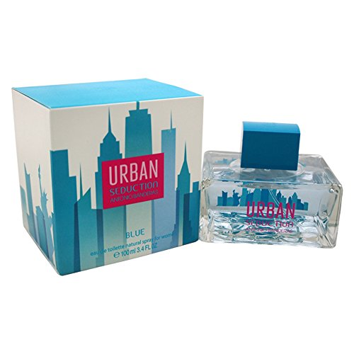 Antonio Banderas Urban Seduction Blue Women's Eau de Toilette Spray, 3.4 Ounce