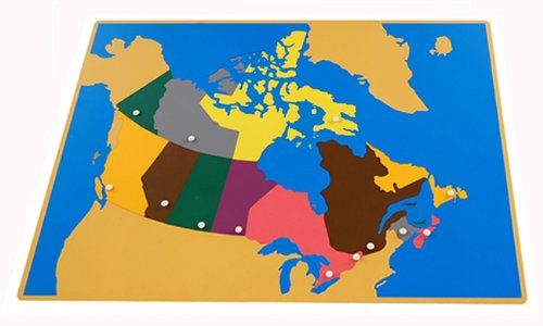 Montessori Canada Puzzle Map with Labeled and Unlabeled Control (Control Map)
