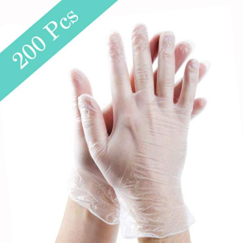 200pcs Disposable Plastic Gloves, Disposable Food Prep Gloves, Disposable Polyethylene Work Gloves for Cooking,Cleaning…
