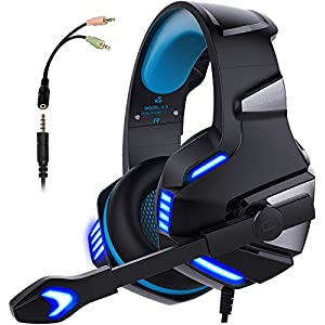 Best Epic Trends 413w5I0lqUL._SS300_ Micolindun Gaming Headset for Xbox One, PS4, PC, Over Ear Gaming Headphones with Noise Cancelling Mic LED Light, Stereo…