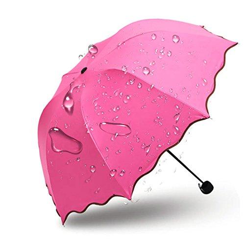 HULKAY Upgrade Hottest Sell Lady Princess Magic Flowers Dome Parasol Sun Rain Folding Umbrella(D) by HULKAY (Image #2)